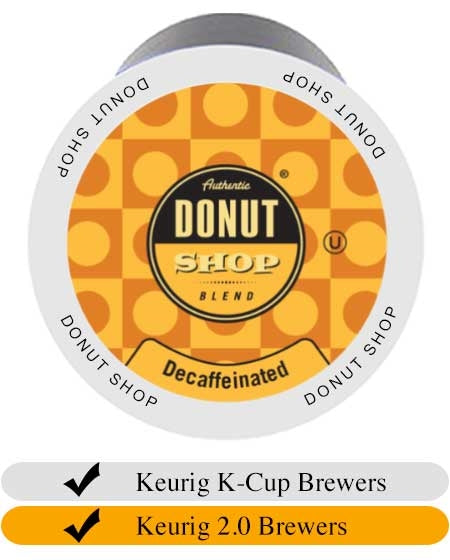 Donut Shop Decaf Coffee Cups (24) | Beanwise
