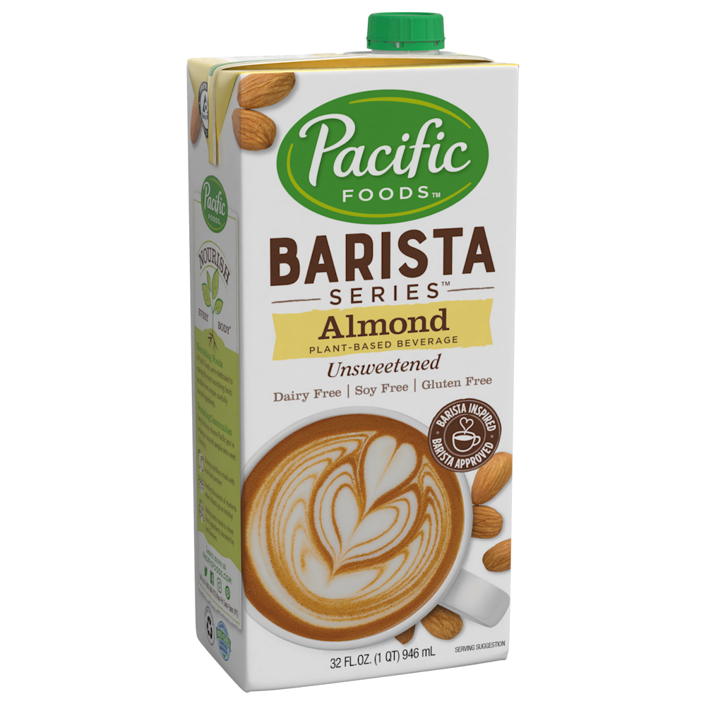Pacific Foods Barista Series Unsweetened Almond Beverage (946ml) | Beanwise