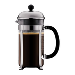 Bodum Chambord French Press (34oz - Stainless Steel and Plastic With Hang Tag)