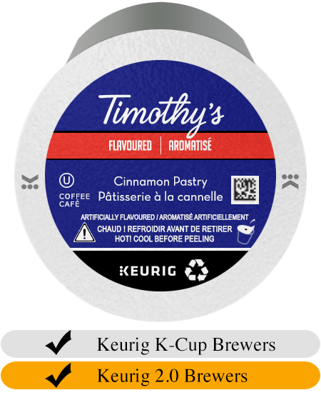 Timothy's Cinnamon Pastry K-Cup® Pods (24)