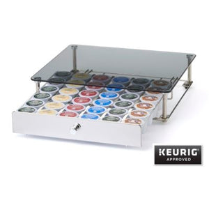 Nifty Rolling K-Cup Drawer with Glass Top | Beanwise