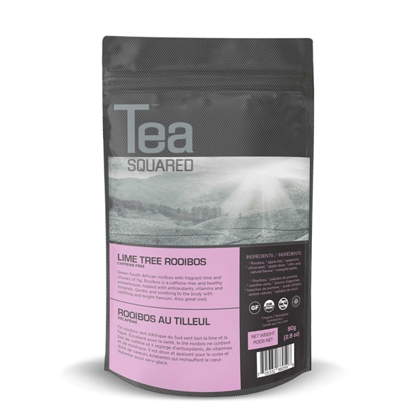 Tea Squared Lime Tree Rooibos Loose Leaf Tea (80g) | Beanwise