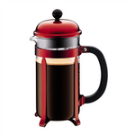 Bodum Chambord French Press (34oz - Metallic Red) | Beanwise