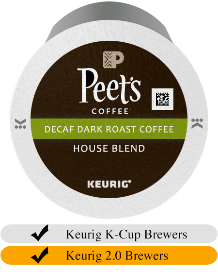 Peet's Coffee DECAF House Blend K-Cup® Pods (10)