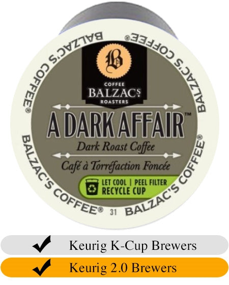 Balzacs A Dark Affair Coffee K-Cups (24) | Beanwise