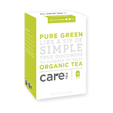 Care Tea Pure Green Organic Tea (18 bags) | Beanwise