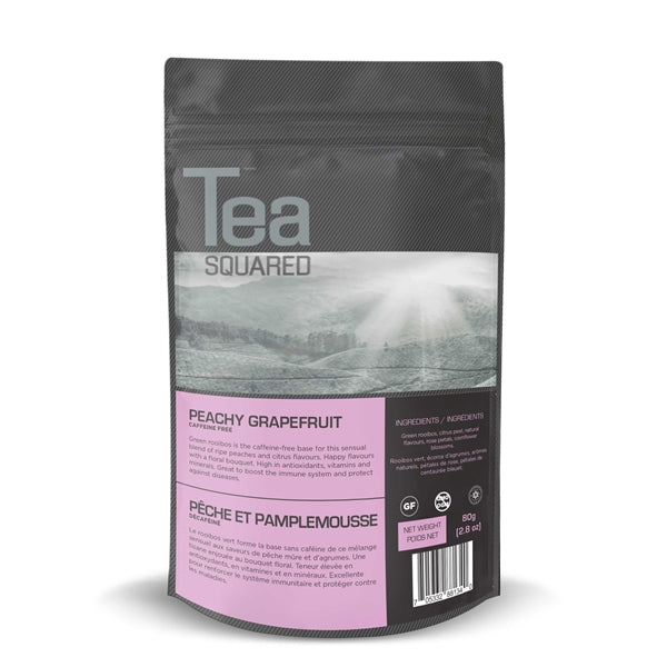 Tea Squared Peachy Grapefruit Loose Leaf Tea (80g) | Beanwise