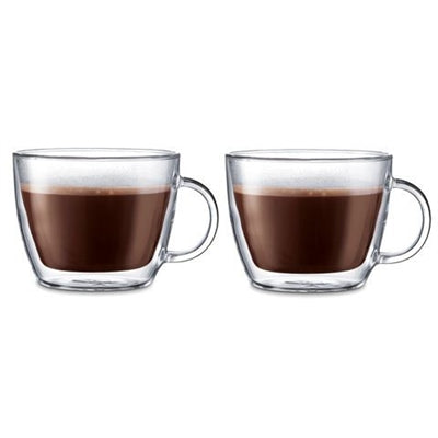 Bodum Bistro Double Wall Latte Mug 15.2oz (2 pcs) | Beanwise