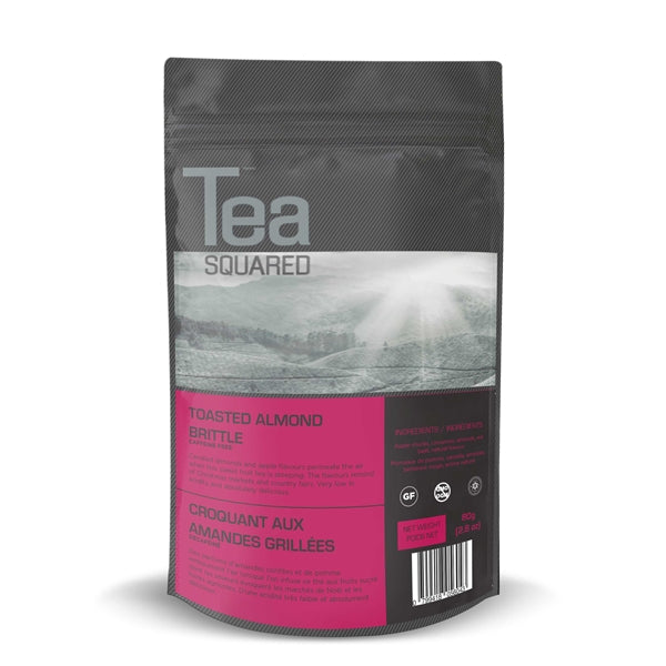 Tea Squared Toasted Almond Brittle Loose Leaf Tea (80g) | Beanwise