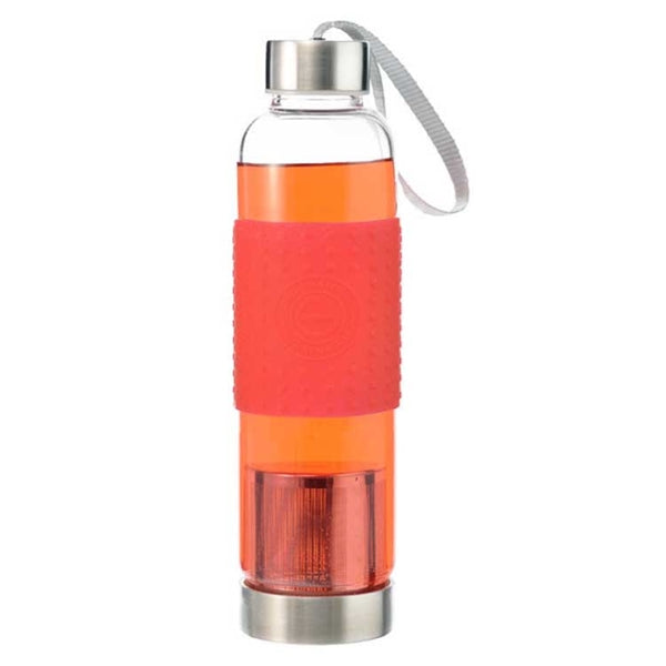 Grosche Marino Tea Infuser Bottle (Red) | Beanwise