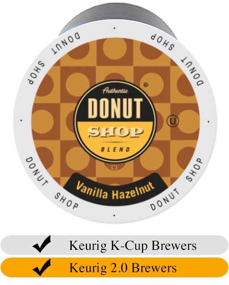 Donut Shop Vanilla Hazelnut Coffee Cups (24) | Beanwise