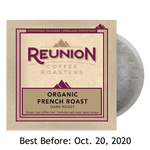 Reunion Coffee Organic French Roast (16) - 100% Compostable Pods SALE
