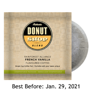 Donut Shop Blend French Vanilla 16 - 100% Compostable Pods SALE