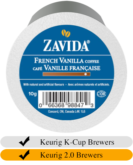 Zavida French Vanilla Dark Roast Coffee Cups (24)