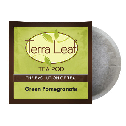 Terra Leaf Green Pomegranate 18 Tea Pods | Beanwise