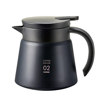 Hario V60-02 Insulated Stainless Steel Server (Black)
