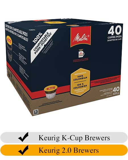 Melitta 100% Colombian Coffee Cups (40) | Beanwise