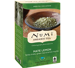 Numi Organic Mate Lemon Tea Bags (18)