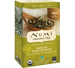 Numi Organic Matcha Toasted Rice Tea Bags (18)