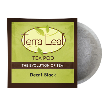 Terra Leaf Decaf Black 18 Tea Pods | Beanwise