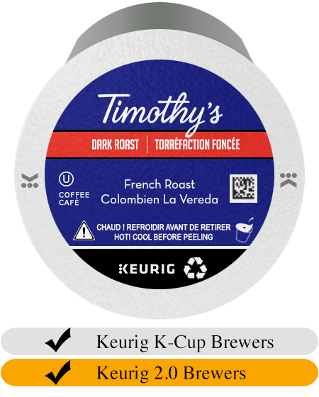 Timothy's French Roast K-Cup® Pods (24)