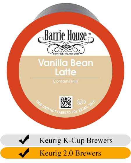 Barrie House Vanilla Bean Latte Cups (24) | Beanwise