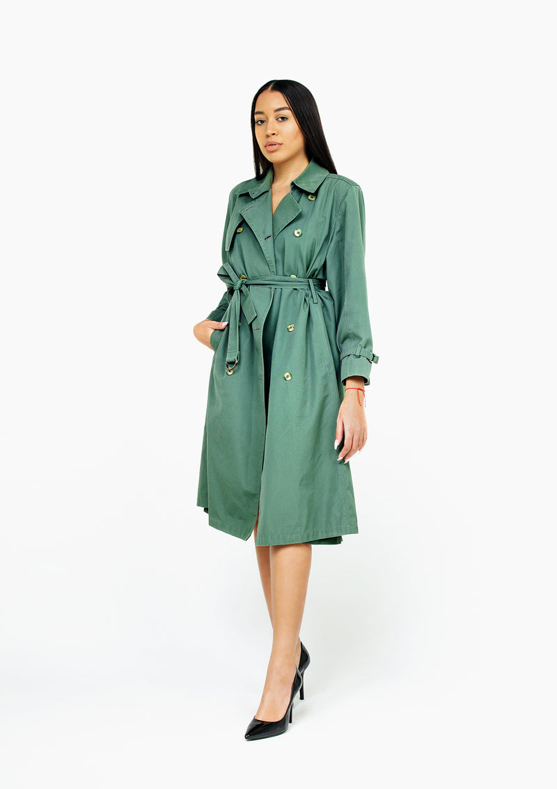 Olive London Fog Trench Coat