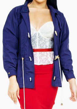 Navy Toggle Jacket