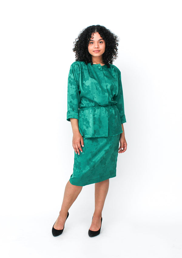 Emerald Peplum Dress