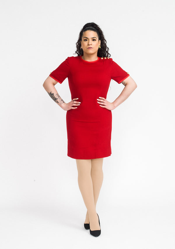Brooks Brothers Red Wool Dress