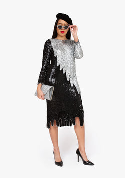 Sequin Drip Dress