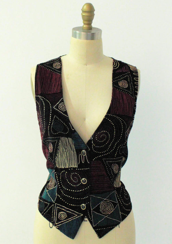 Embroidered Pattern Vest