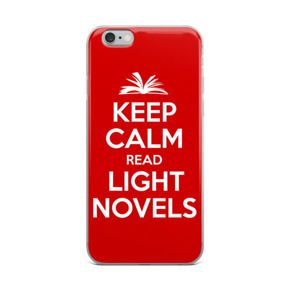 Keep Calm Read Light Novels iPhone Case - Light Novel Shirts