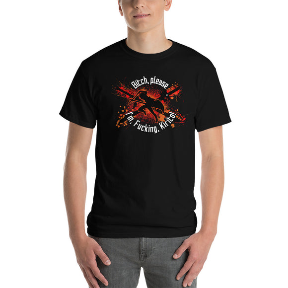 Crossed Swords (Explicit, Orange/Red) Sword Art Online Inspired Classic Short-Sleeve T-Shirt - Light Novel Shirts