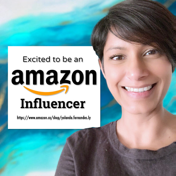 Amazon influencer Yolanda Fernandes Ly Resin Artist mixed media Toronto Canada