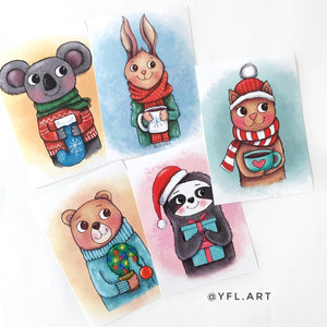 Holiday Print Set - 5x7 inch - Set of 5