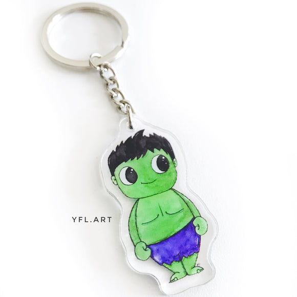 Hulk Keychain - Double sided key ring