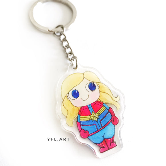 Captain Marvel keychain key charm