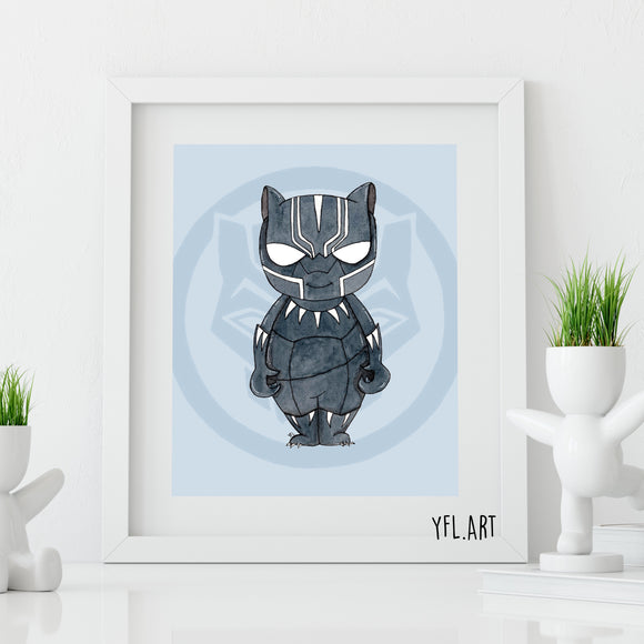 Black Panther Print - Watercolor art print