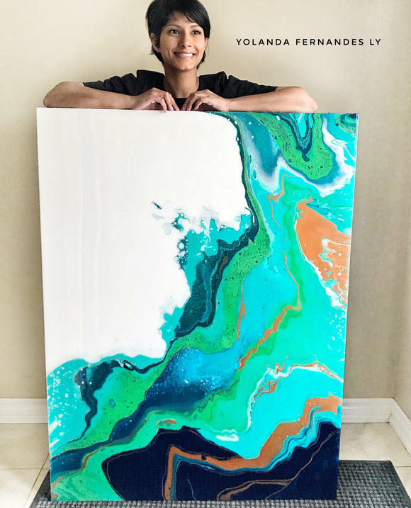 Original Painting - Acrylic and Resin painting
