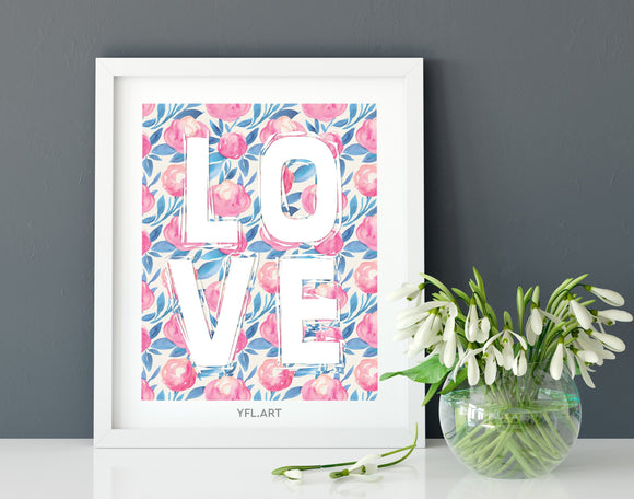 LOVE - FREE Download - Watercolour print or wallpaper