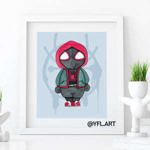 Miles Morales - Spider-man - Watercolor art print
