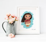 Moana Disney Print - Watercolor art print