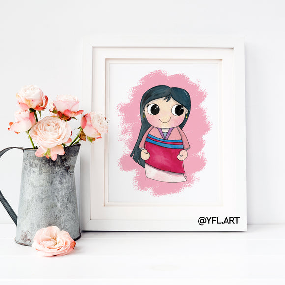 Mulan nursery wall art print