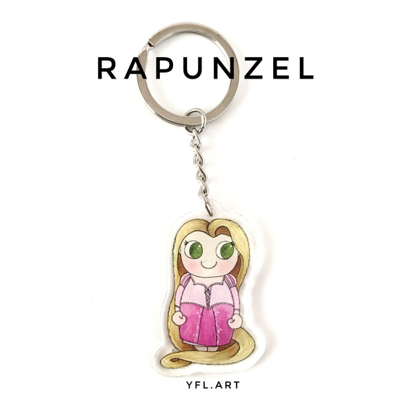 Rapunzel Keychain - Double sided Keychain