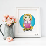 Rapunzel nursery wall art