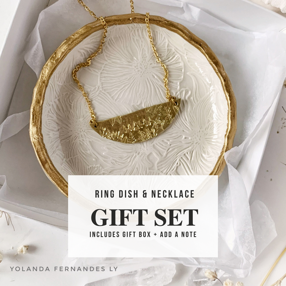 GIFT SET - Pair your MAMA necklace with your choice of dish