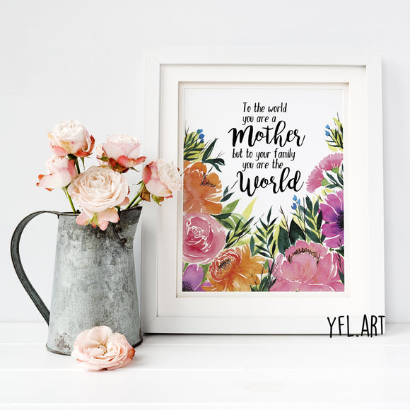 Mother's Day Print - FREE Download - Watercolour print or wallpaper
