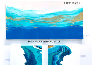 "Original Painting - 5 feet by 2.5 feet - ""Life Path"" - Resin Art"