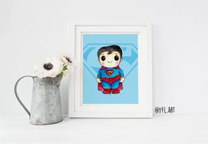 Superman Print - Watercolor art print